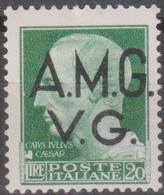 Italia 1945 AMG-VG Lire 20 UnN°12 MLH/* Vedere Scansione - 7. Triest