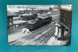 Gare Etat - Photo Paris Saint Lazare - Années 1930- Locomotive Automotrice Train Chemin Fer - Treinen
