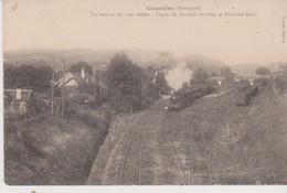 CAZOULES La Gare Et Les Voies Ferrées Ligne De Bordeaux Aurillac  Et Toulouse Paris - Andere Gemeenten