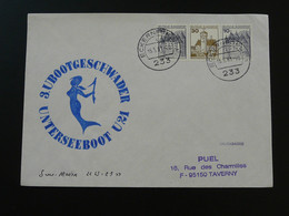 Lettre Cover Sous-marin U21 Submarine Sirène Mermaid Allemagne Germany 1981 - Sous-marins