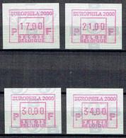 ATM 101 ** - 4 Vignettes - EUROPHILA 2000. - Vignette