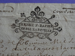 """1680 Généralité De BOURGES Papier Timbré N°35 De """"BERRY P. PAPIER / UN SOL LA FEUILLE - Gebührenstempel, Impoststempel"""