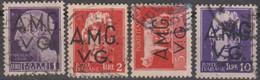Italia 1945 Venezia Giulia AMG-VG UnN°8/11 4v Part Set (o) Senza Fasci Vedere Scansione - 7. Triest