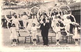 FR34 LUNEL - 23 Juin 1912 - Fêtes Henri De BORNIER - Danseurs Et Danseuses Et Professeur ROCCA - Animée - Belle - Lunel