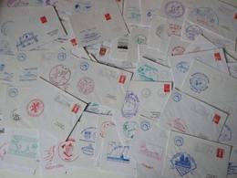 Lot De 100 Enveloppes Oblitérations Navales - Naval Post