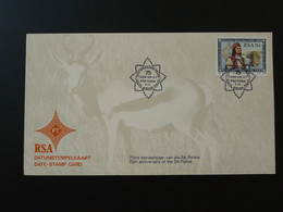 Oblitération Postmark Police 75 Ans 75 Years Afrique Du Sud South Africa 1988 - Policia – Guardia Civil
