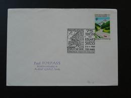 Geologie Des Alpes Eduard Suess Oblitération Sur Lettre Postmark On Cover Marz Autriche Austria 1989 - Other