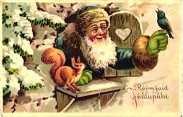 Santa Claus With Bird And Squirrel, Pre 1940 - Santa Claus