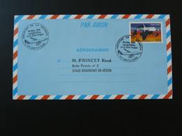 Entier Postal Stationery Aerogramme Airbus A340 Oblit. Aéroport De La Réunion 1994 - Flugzeuge