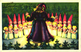 Santa Claus As Conductor, Singing Angels And Gnomes, Pre 1935 - Santa Claus