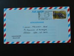 Aerogramme Hélicoptère Posté Du Porte Hélicoptères Jeanne D'Arc 2000 - Seepost