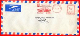 1959-AUTO PEUGEOT 403 -SOUTH AFRICA METER STAMP EMA FREISTEMPEL AFFRANCATURA MECCANICA - Autos