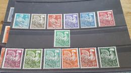 LOT517547 TIMBRE DE FRANCE NEUF** /* N°106 A 118 VALEUR 80 EUROS  DEPART A 1€ - 1893-1947