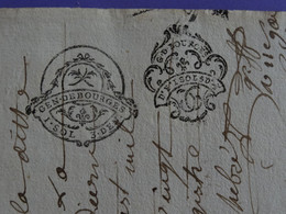 1785 Généralité De BOURGES Papier Timbré N°191 + Contremarque N°202 - Gebührenstempel, Impoststempel