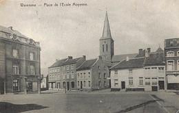 Waremme - Place De L'Ecole Moyenne (Edit. Charlier, Au Bon Marché 1911) - Waremme
