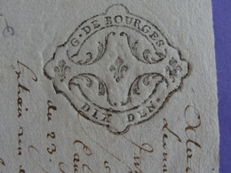 """1751 Généralité De BOURGES Papier Timbré N°180 De """"DIX DEN. Superbe - Gebührenstempel, Impoststempel"""