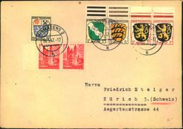1947, 5 Auslandsbriefe PIRMASENS - ZÜRICH - Zona Francesa