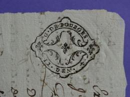 """1750 Généralité De BOURGES Papier Timbré N°181 De """"12. DEN. 1/2""""  Superbe Une Des Rares Marques Avec Demi Denier - Gebührenstempel, Impoststempel"""