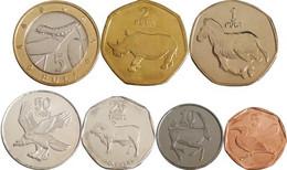 Botswana Set Of 7 Coins 2001-2009 UNC - Botswana