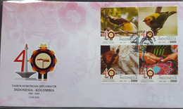 INDONESIA FDC JOINT ISSUE - KOLOMBIA 2020 (NEW ISSUE ) - Indonesia