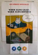 Affiche Publicitaire Abribus - Assurances M M A - Vieux Clou Cassé, Vieux Clou Dépanné - Le Chat De Philippe Geluck - Andere
