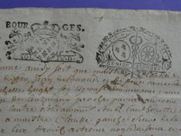 1718+1723 Généralité De BOURGES Papier Double Timbrage X2 N°132 + Contremarque N°142 - Gebührenstempel, Impoststempel