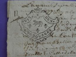"""1738 Généralité De BOURGES Papier Timbré N°160 De """"HUIT DEN."""" Quart De Feuille """"au Mouton"""" - Gebührenstempel, Impoststempel"""