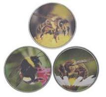 Margarita Island Set Of 3 2 Peso Coins UNC Bees - Venezuela