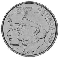 Canada 25 Cents 2005 UNC Year Of Veterans - Canada