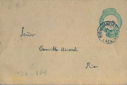 1895 BRASIL , FAJA POSTAL PARA IMPRESOS , RIO DE JANEIRO - Briefe U. Dokumente