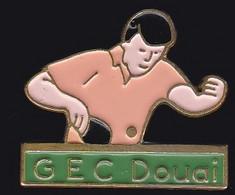 67660-Pin's.Tennis De Table. GEC Douai. - Table Tennis