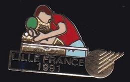 67663-Pin's.Tennis De Table. Lille.Hauts-de-France. Nord De La France.signé Club Intel - Table Tennis