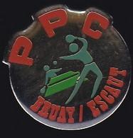 67670-Pin's.Tennis De Table.PPC Bruay Sur Escaut.Nord, En Région Hauts-de-France - Table Tennis