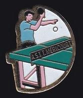 67672-Pin's.Tennis De Table.ASTT.Méricourt.Pas-de-Calais Dans La Région Hauts-de-France. - Table Tennis