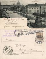 Mitte-Berlin Strassen Partie Mit Königl. Schloss Und Opernhaus, Denkmal Friedrich D. Grossen 1902 - Mitte