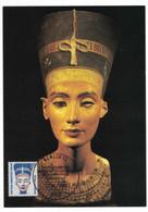 LA371   Berlin 1989 Egyptologie - Pharaon Nefertiti - Maximum Card Mi-Nr. 831 - Egyptology