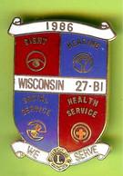 Pin's Club Lions Wisconsin 1986 - 8F11 - Associations