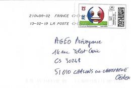 France 2019 Mon Timbre En Ligne Football Emoji Cover - Francia