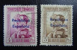 &SVE 157D& GUINEA EDIFIL 242,243 VF USED. - Guinea Española