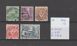 Denemarken 1936 - Yv. 241/45 - Mi. 228/32 Gest./obl./used - Usati