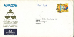 Kuwait Cover Sent Air Mail To Germany 1988 ?? - Kuwait