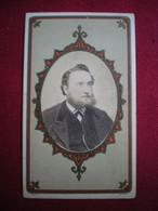 PHOTO CDV - Portrait D'homme, Photo à Fécamp En 1873. - Sin Clasificación