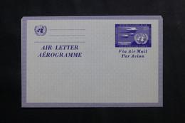 NATIONS UNIES - Aérogramme Non Circulé - L 73946 - Cartas