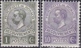 Monaco Taxe 1910 YT 8 Et 9 Neufs - Impuesto