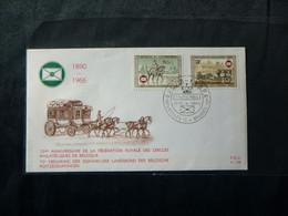 "BELG.1966 1395 & 1396 FDC  : "" Cercles Philatéliques / Postzegelkringen Belg. "" - 1961-70"