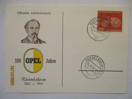 Auto, 100 Jahre Opel, Sonderkarte 1962 (160) - Autos