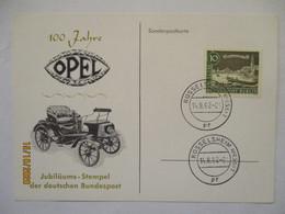 Auto, 100 Jahre Opel, Sonderkarte 1962 (9906) - Autos