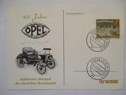 Auto, 100 Jahre Opel, Sonderkarte 1962 (39703) - Autos