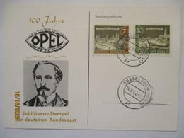 Auto, 100 Jahre Opel, Sonderkarte 1962 (59788) - Autos