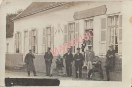 WARLOY-BAILLON , Carte Photo Café OUTREQUIN-LEFEBVRE , Rue Neuve, Maintenant 5/7 Rue Juliot Curie - Andere Gemeenten